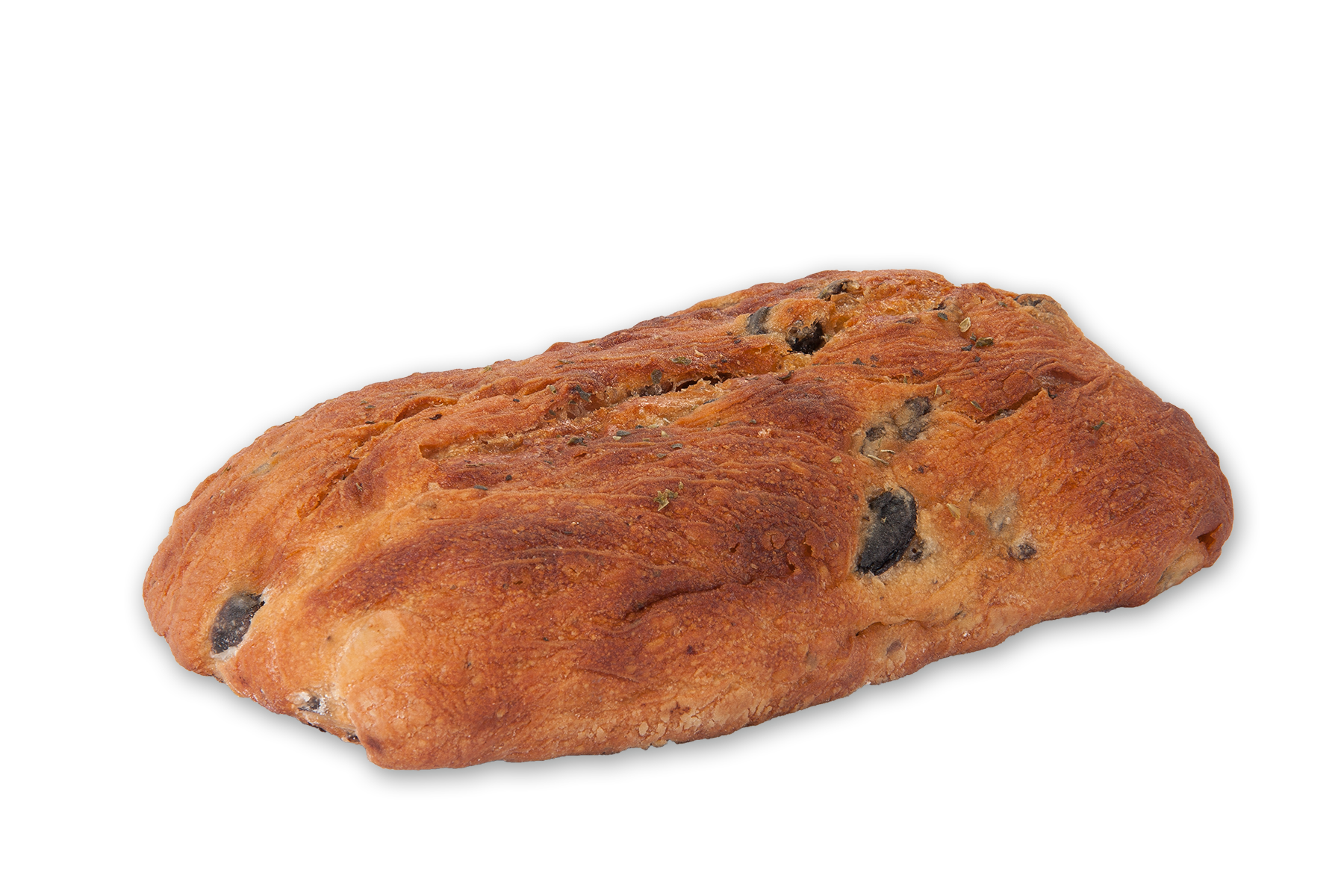Pan de aceite con aceitunas y oregano